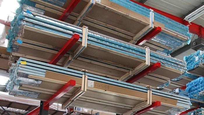 Aluminium extrusion stock holders
